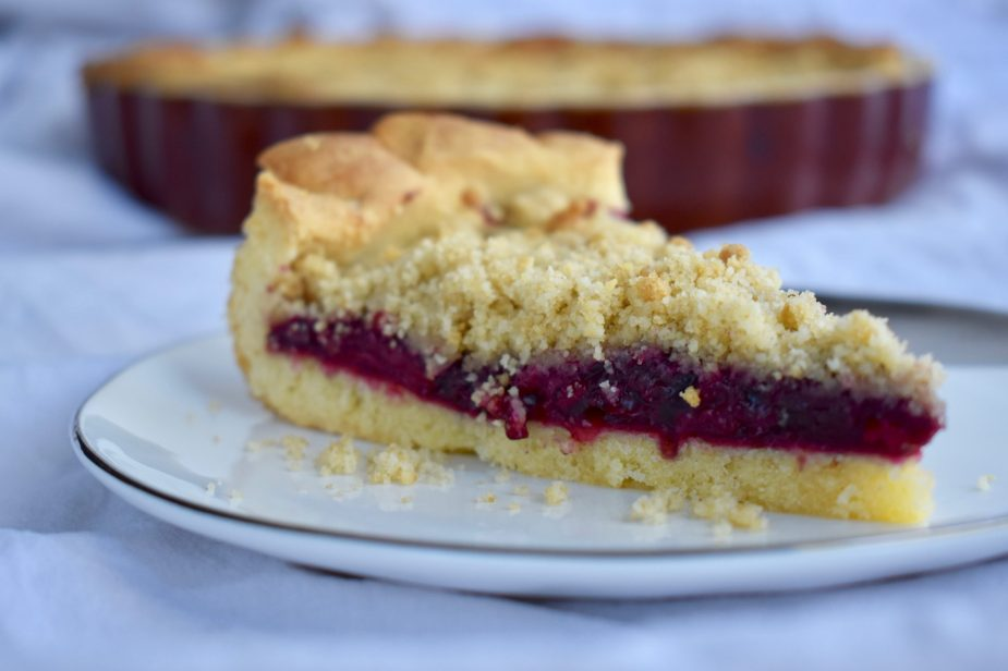 Sour Cherry and Almond Pie