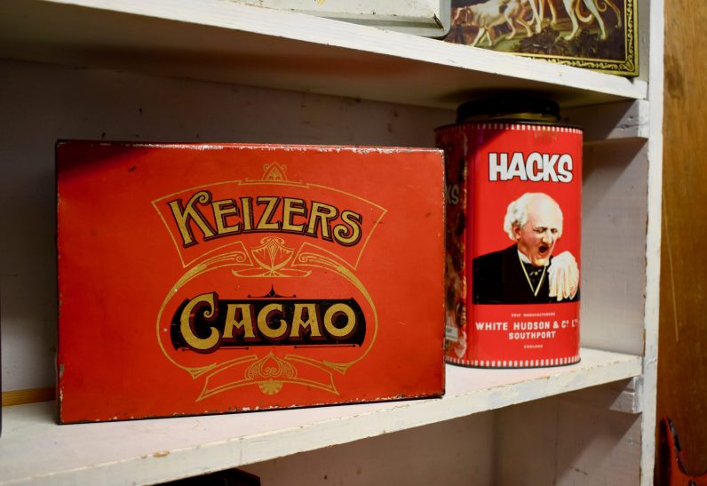 Cacao (on which I failed to find any info) and Hack's tin which used to contain eucalyptus lozenges.