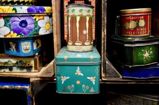 Close up. Mokka Arabia, coffee tin.