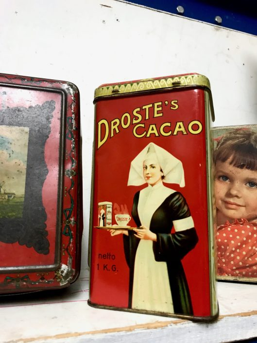 Droste was founded by Gerardus Johannes Droste in 1863 in the city of Haarlem. The (now famous) nurse appeared on cocoa tins in 1900. The illustration reappears on the cocoa package held by the nurse, inducing a recursive visual effect known today as the Droste effect. The effect was named after Droste for this illustration