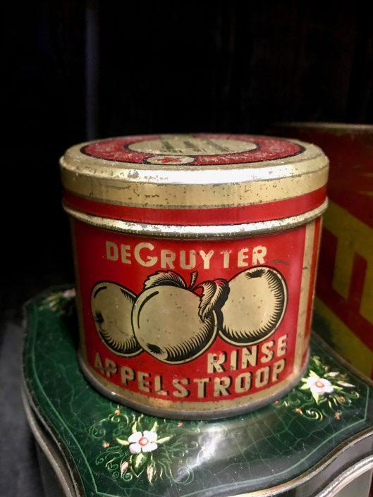 Apple syrup tin, circa 1930s.