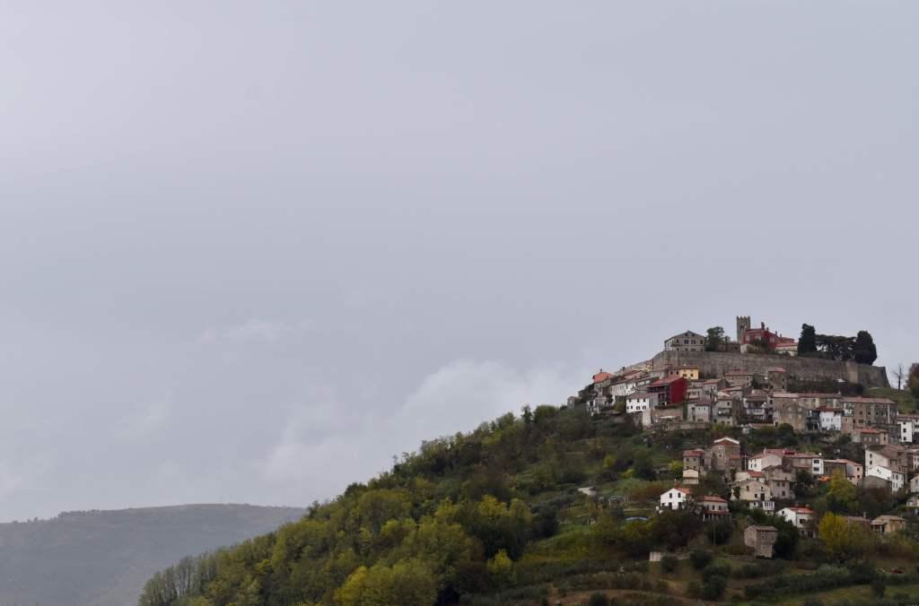A hilltop town