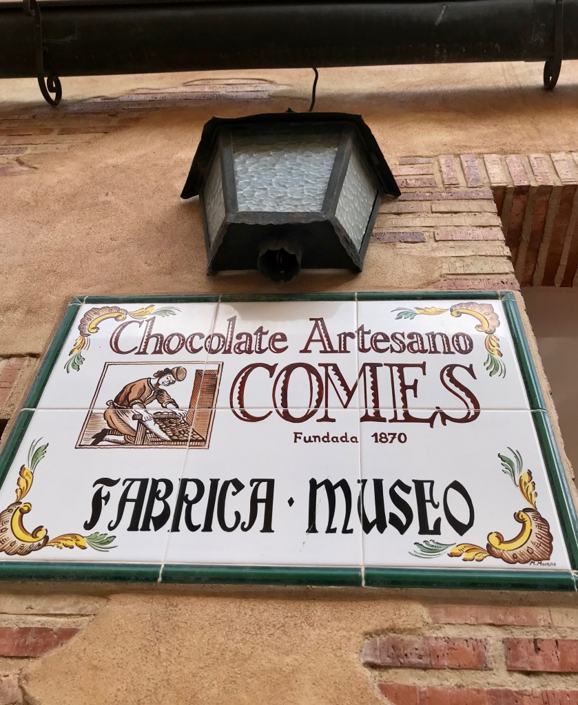 Chocolate museum and factory in Sueca Valencia entrance